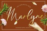 Last preview image of Marlyne Signature Script