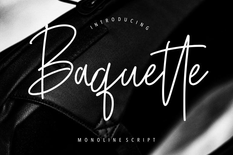 Preview image of Baquette Monoline Script