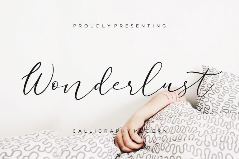 Preview image of Wonderlust Calligraphy Modern