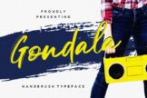 Last preview image of Gondala Handbrush Typeface