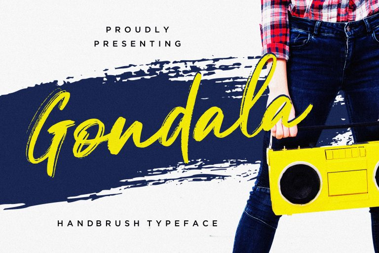 Preview image of Gondala Handbrush Typeface