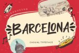 Last preview image of Barcelona Casual Typeface