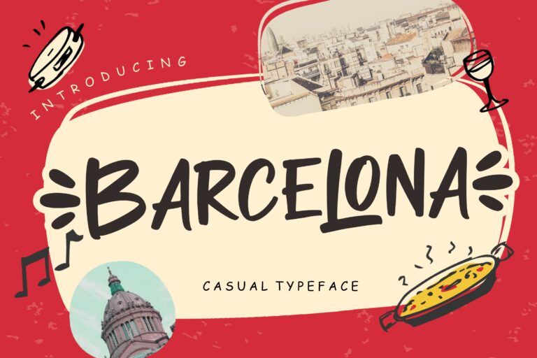Preview image of Barcelona Casual Typeface