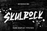 Last preview image of Skulrock Hard Display Typeface