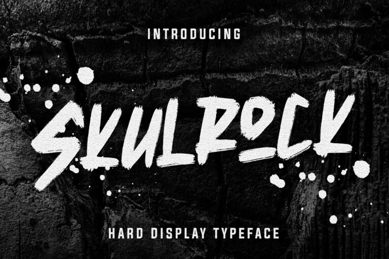 Preview image of Skulrock Hard Display Typeface