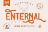 Last preview image of Enternal Vintage Stamp Typeface