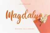 Last preview image of Magdalyn Modern Calligraphy