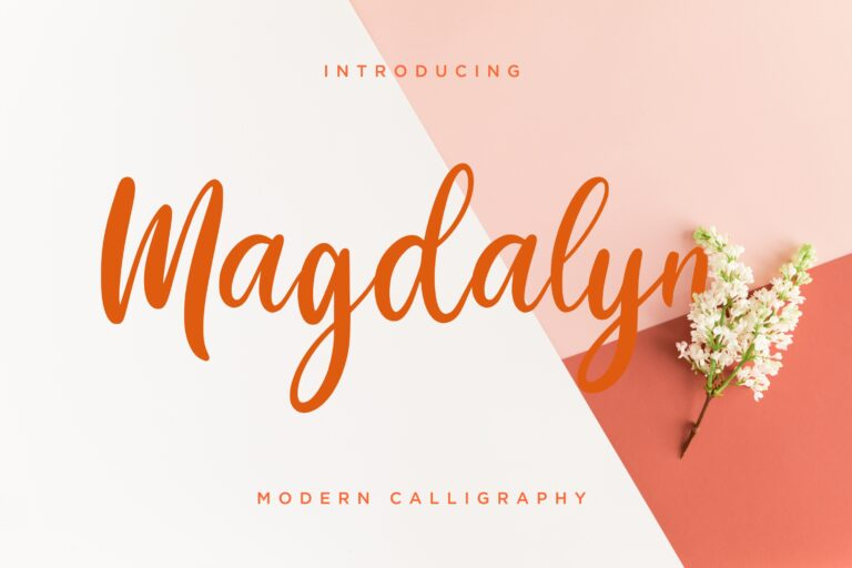 Preview image of Magdalyn Modern Calligraphy
