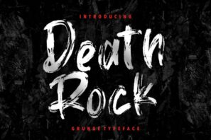 Death Rock Grunge Typeface