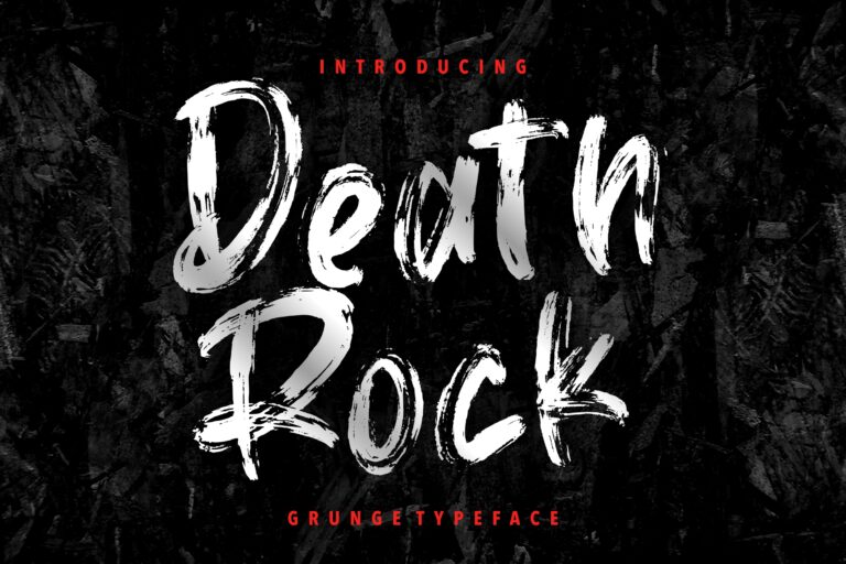 Preview image of Death Rock Grunge Typeface