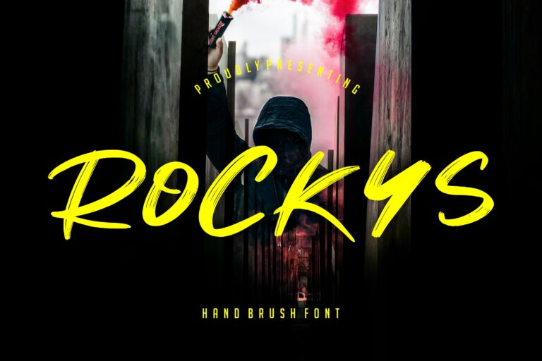 Preview image of Rockys Handbrush Font