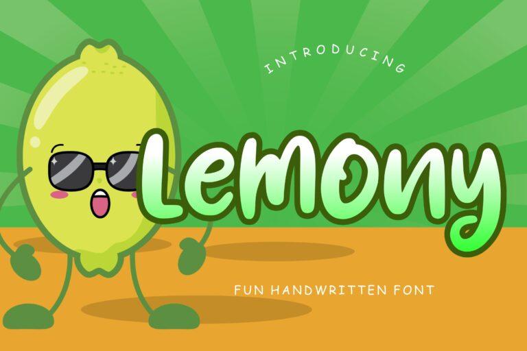 Preview image of Lemony Fun Handwritten Font