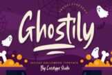 Last preview image of Ghostily Spooky Halloween Typeface