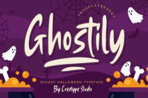 Ghostily Spooky Halloween Typeface