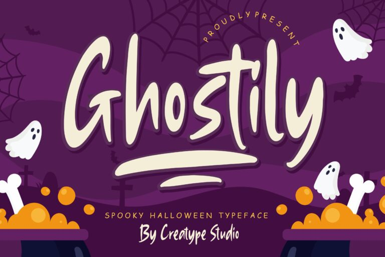 Preview image of Ghostily Spooky Halloween Typeface