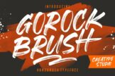 Last preview image of Gorock Brush Typeface