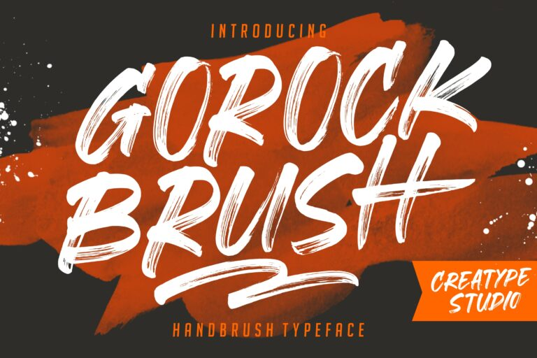 Preview image of Gorock Brush Typeface