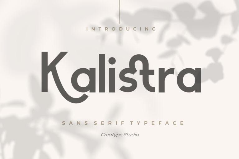 Preview image of Kalistra Sans Serif Typeface