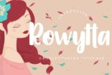 Last preview image of Rowytta Handlettering Typeface
