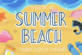 Last preview image of Summer Beach Sunny Display Typeface