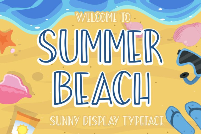 Preview image of Summer Beach Sunny Display Typeface