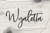 Last preview image of Wyaletta Signature Script
