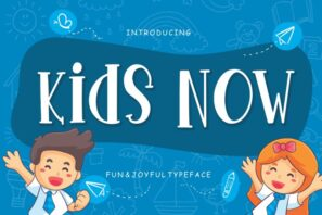 Kids Now Fun & Joyful Typeface