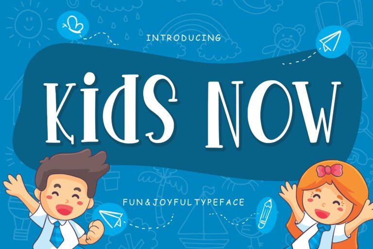 Preview image of Kids Now Fun & Joyful Typeface