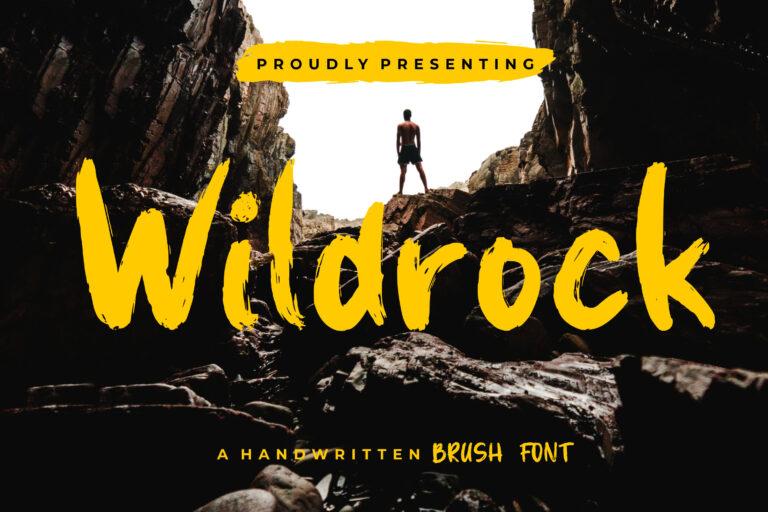 Preview image of Wildrock Handwritten Brush Font