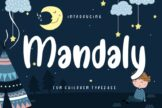 Last preview image of Mandaly Fun Children Typeface