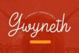 Last preview image of Gwyneth Monoline Script