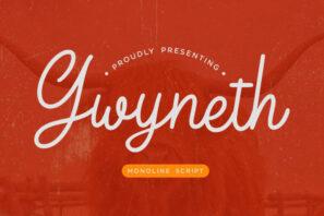 Gwyneth Monoline Script
