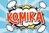 Last preview image of Komika Fun Comic Typeface