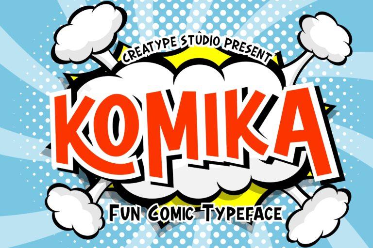 Preview image of Komika Fun Comic Typeface