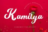 Last preview image of Kamilya Handwritten Script