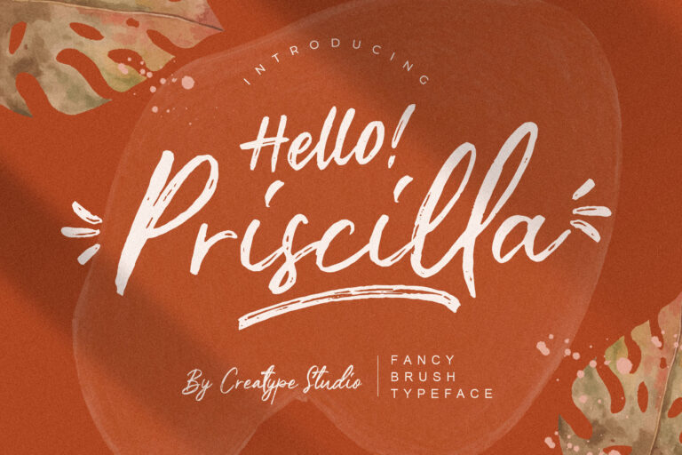 Preview image of Priscilla Fancy Brush Typeface