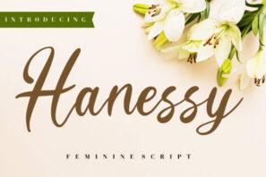 Hanessy Feminine Script