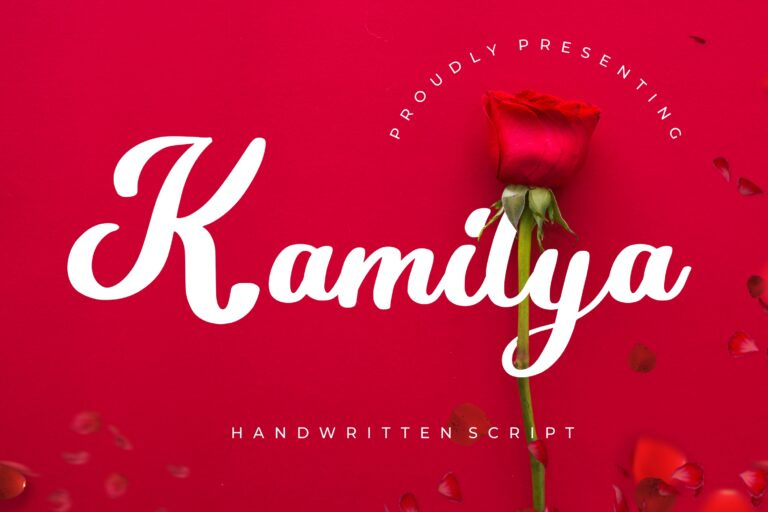 Preview image of Kamilya Handwritten Script