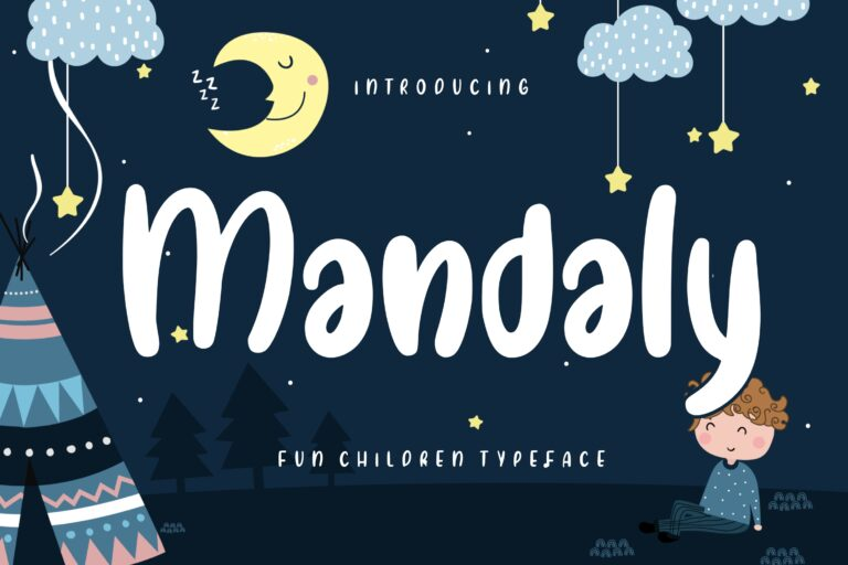 Preview image of Mandaly Fun Children Typeface