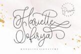 Last preview image of Hariette Sofirya Monoline Signature