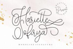 Hariette Sofirya Monoline Signature