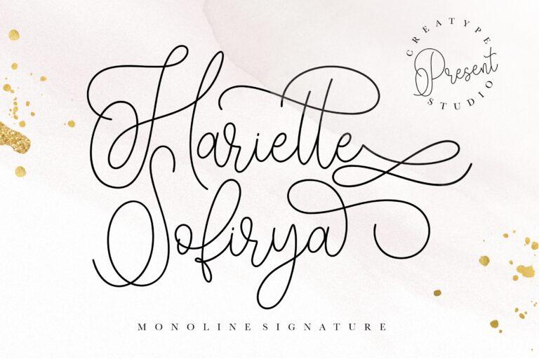 Preview image of Hariette Sofirya Monoline Signature