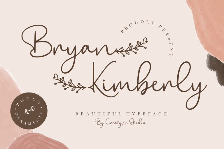 Preview image of Bryan Kimberly Beautiful Typeface