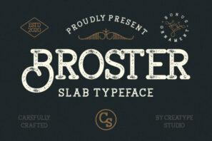 Broster Slab Typeface