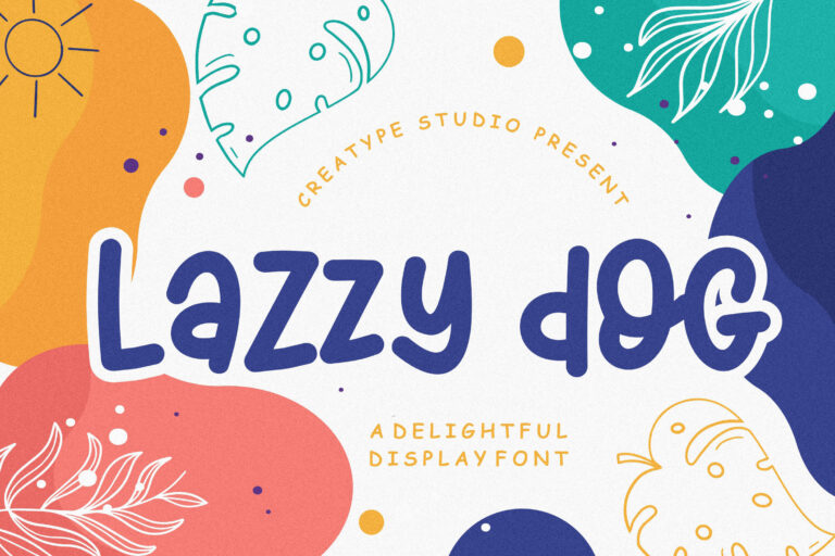 Preview image of Lazzy Dog Delightful Display Typeface