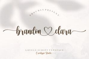Brandon Clara Lovely Script