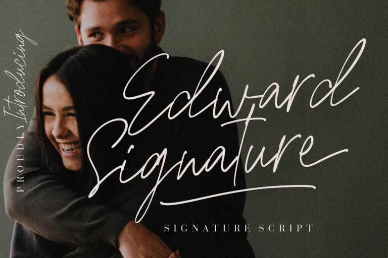 Preview image of Edward Signature Script