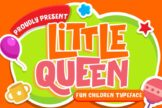 Last preview image of Little Queen Fun Children Typeface
