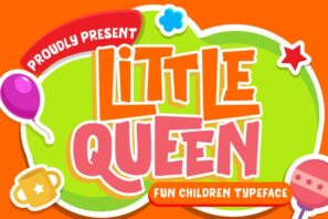 Little Queen Fun Children Typeface