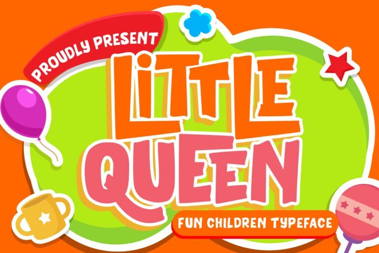 Preview image of Little Queen Fun Children Typeface
